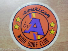 Vecchio adesivo sticker AMERICAN WIND SURF CLUB by A d epoca vintage collezione