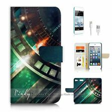 iPod Touch 6 iTouch 6 Flip Wallet Case Cover P3152 Cool Metal