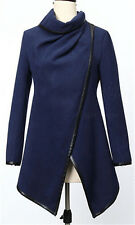 Women's Warm Wool Slim Long Trench Parka Peacoat Outwear Overcoat Coat Jacket VV