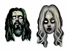 ROB ZOMBIE LIVING DEAD GIRL SET OF 2 CARDSTOCK MASKS NEW OFFICIAL BAND MUSIC
