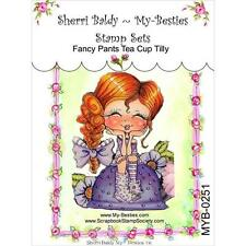 NEW My-Besties Clear Acrylic cling Rubber Stamp TEA CUP TILLY GIRL FREE US SHIP