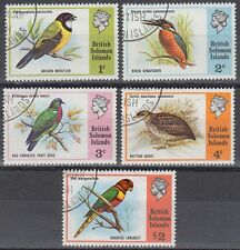 Solomon Islands 1975 fine used Mi.267/71 Vögel Birds [sq7083]