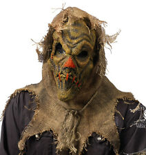 Scary Scarecrow  Latex & Grass Sack Adult Halloween Mask