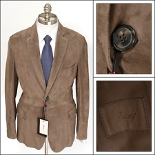 Mens BRIONI Suede Leather Unconstruced 2Btn Sport Coat Jacket 50 40 R M NWT