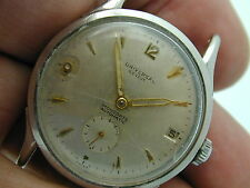 VINTAGE UNIVERSAL GENEVE 138C BUMPER STAINLESS STEEL WATCH AT 43 BY 35 MM