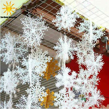 30pcs Snowflake White Ornaments Christmas Tree Decorations Home Festival Decor