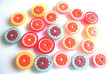 GORGEOUS 10 OPEN CITRUS GRAPEFRUITS - FLATBACK CABOUCHONS  - FAST FREE SHIPPING