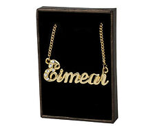 "Name Necklace ""EIMEAR"" - 18ct Gold Plated - Swarovski Elements - Personalized"