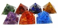 Set Of 7 Pcs Multi-Stone Orgone Pyramid Healing Energy Generator Reiki Gemstones