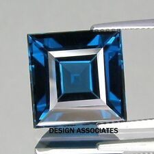 LONDON BLUE TOPAZ NATURAL 3  MM SQUARE CUT 1  PIECE SET $1.29 AAA