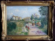 "Eugène  SELMY (1874-1945) French Post Impressionist ""Chaperone"" Oil Painting"