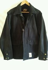 Harley Davidson Mens Black Canvas Riding Jacket Size-Medium Harley on Back
