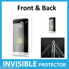 LG G5 INVISIBLE Screen Protector Shield Full FRONT AND BACK - Military Grade