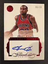 2015-16 Flawless GRANT HILL #02/15 RUBY RED AUTO AUTOGRAPH PARALLEL ON CARD