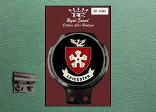 Royale Classic Badge Auto & BAR Clip Leicester City LAMBRETTA VESPA b1.1085
