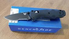 BENCHMADE New Assisted Mini Barrage Black Combo Edge 154CM Blade Knife/Knives