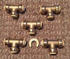 """NEW - 5 PIECE 1/2"""" SHARKBITE STYLE PUSH ON  TEES PEX COPPER PIPE REPAIR FITTINGS"""