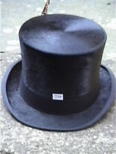 Lincoln Bennett Black Silk Top Hat Sz 7½+ with leather carrying box RARE...