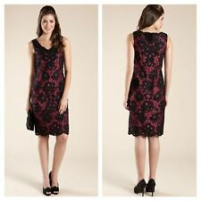 MONSOON Size 10 Cheryl Black Deep Rose Lace Beaded PARTY DRESS £139 Christmas