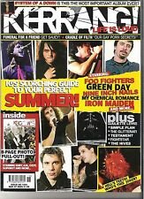 KERRANG #1055 FOO FIGHTERS:NIN:MCR:MAIDEN:SOAD:CRADLE OF FILTH + POSTER PULLOUT