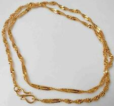 New 18 inch 2mm 22K 24K Thai Baht Yellow Indian Gold Plated Rope Chain Necklace