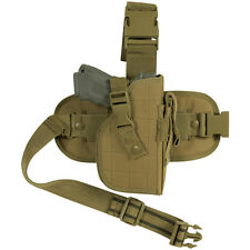 NEW - Right Hand Tactical Mission Ready FOX Leg Thigh Gun Holster DESERT TAN