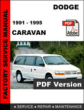 DODGE CARAVAN & GRAND CARAVAN 1991 - 1995 FACTORY SERVICE REPAIR WORKSHOP MANUAL
