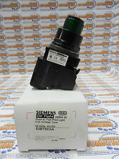 Siemens 52BT6D3A Heavy Duty Push To Test Pushbutton, Illuminated, 6V LED, Green,