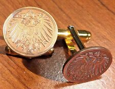 Antique 1890-1916 Imperial German Eagle Empire Germany Coin Cufflinks + Gift Box