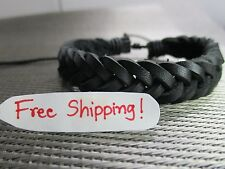 Classic Mens Women Fashion Surfer Braided Leather Bracelet Wristband Cuff