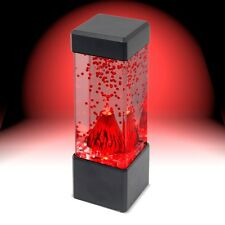 Novelty Desktop Mini Volcano LED Lamp Nightlight Bedroom Lamp Red Lava Light