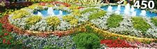 """""""COLORFUL GARDEN"""" Floral Landscape Flowers Fountains BOXLESS Jigsaw Puzzle *NEW*"""