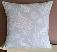 "New Cushion Cover Hare - Rabbit Fabric  16"" Gorgeous Blue Print Pillow - Sham"