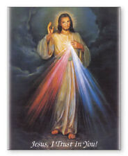 LARGE JESUS DIVINE MERCY CANVAS - PICTURES CANDLES STATUES CRUCIFIXES LISTED