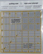 summit deluxe non slip grid QUILTING PATCHWORK  RULER 6.5 inch SQUARE ks-6565