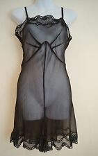 BY MALENE BIRGER Silk Black Lingerie Nightwear All In One Teddy Shorts UK10 BNWT