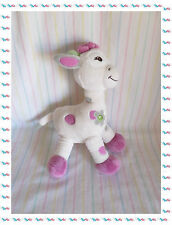 B - Doudou Peluche Girafe Blanche Bebisol Arthur et Lola