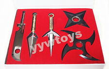 Anime Naruto Shippuden Konoha Ninja Shuriken Kunai Metal Set New in box