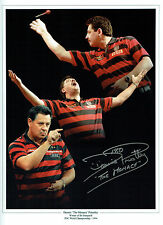Dennis The Menace PRIESTLEY Signed Autograph Darts 16x12 Montage Photo AFTAL COA