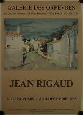 Affiche JEAN RIGAUD 1982 Exposition Galerie des Orfèvres