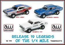 Auto World ~ 3 Brand New Legends of the Qtr. Mile T- Jets ~ FITS Aurora, AW, JL