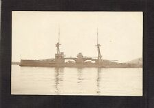 REAL-PHOTO POSTCARD:  H.M.S. NEPTUNE - BRITISH NAVY WW-1 BATTLESHIP - Unused