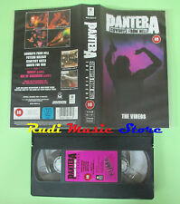 VHS PANTERA Cowboys from hell THE VIDEOS 1991 WARNER 8536 503143 no cd mc (VM5)