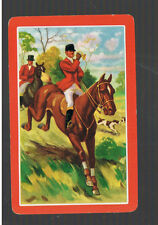 Playing Swap Cards  1 VINT HORSES  HUNTING  DOGS  RIDERS  THE CALL W418   MINT