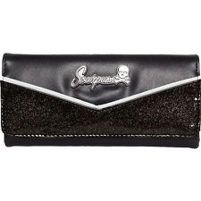 Sourpuss Monroe Wallet Black/Black Retro Vintage Rockabilly Pinup Glitter