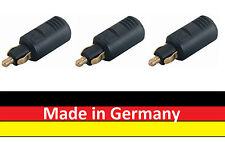 3 x KFZ LKW Normstecker für Bordsteckdosen Adapter 8A 12V - 24V -Made in Germany
