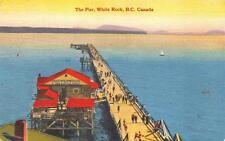Print. ca 1939. White Rock, BC Canada. The Pier, White Rock