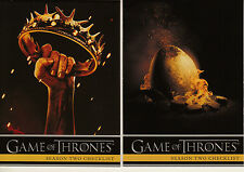 RITTENHOUSE 2013 GAME OF THRONES SEASON 2 COMPLETE 88 BASIC CARD SET