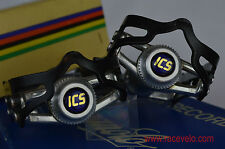 ICS swiss pedals dust caps fit shimano campagnolo super record gipiemme vintage