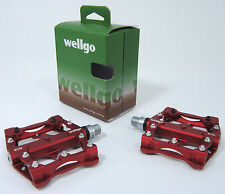 Wellgo B132 Downhill DH Mountain Bike Platform MTB Pedals w/Replaceable Pins,RED